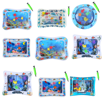 Baby Kids Water Play Mat Toys Inflatable PVC Infant Tummy Time Playmat Toddler Activity Play Center Water Mat