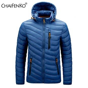 CHAIFENKO Brand Winter Warm Waterproof Jacket Men 2021 New Autumn Thick Hooded Parkas Mens Fashion Casual Slim Jacket Coat Men 1