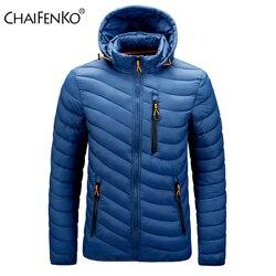 CHAIFENKO Brand Winter Warm Waterproof Jacket Men 2020 New Autumn Thick Hooded Parkas Mens Fashion Casual Slim Jacket Coat Men