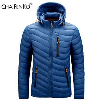 CHAIFENKO Winter Warm Waterproof Jacket Men 2020 New Autumn Thick Hooded Cotton Parkas Mens Fashion Casual Slim Jacket Coat Male new winter men s cotton linen padded thickened jacket china style male jeans coat mens fashion casual warm denim parkas jacket