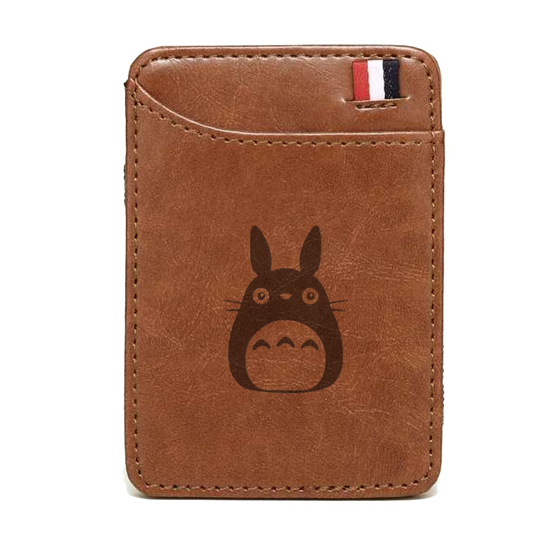 Classic My Neighbor Totoro Theme Wallet High Quality Leather Magic Wallets Fashion Men Women Money Clips Card Purse Cash Holder