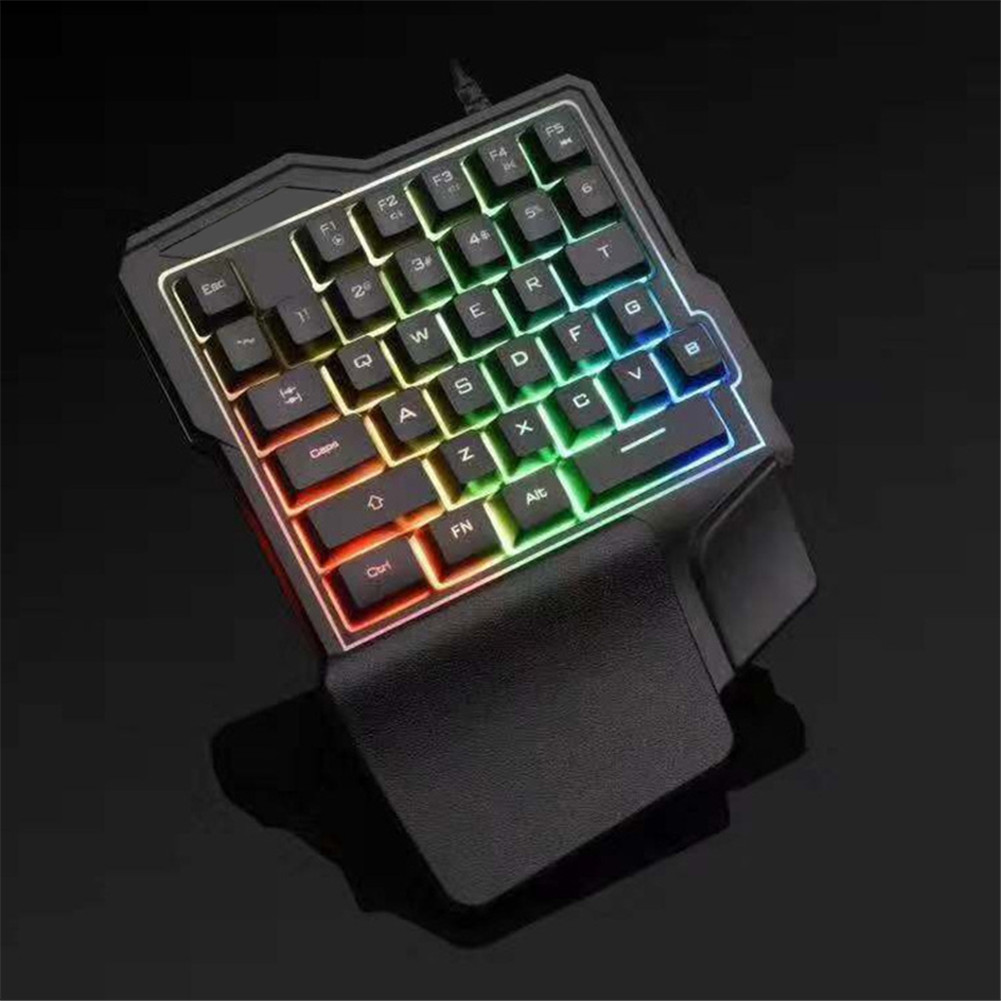 One Hand Mechanical Gaming Keyboard Half Small Keyboards with Backlight LHB99
