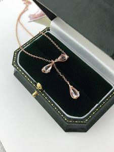 Женская подвеска в виде лепестков сакуры, ювелирное изделие из стерлингового серебра 925 пробы с покрытием из розового золота 18 К