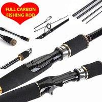 100% Carbon Lure Fishing Rod Bait Telescopic Spinning rod Travel Casting Pole Fish Rod Peche Pesca Tackle 2.1m 2.4m 2.7m E