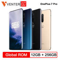 Global ROM Oneplus 7 Pro Mobile Phone 12GB 256GB Snapdragon 855 6.67 90GHz 2K Screen 48MP NFC Android 9