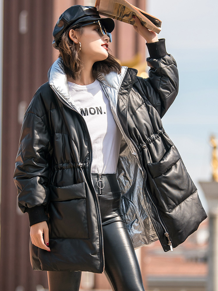 Women's 2020 Fur Coat Real Leather Jacket Winter Coat Women Sheepskin Coat Female Warm Down Jackets Chaqueta Mujer MY S