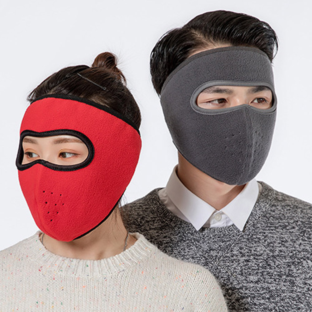 Windproof Plush Mask For Women Men Keep Warming Breathable Masks Winter Sports Riding Cycling Running JL