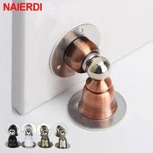 NAIERDI ze stali nierdzewnej drzwi magnetyczne zatrzymuje naklejki wc ukryte drzwi uchwyty złapać podłogę bez paznokci do drzwi drzwi sprzętu