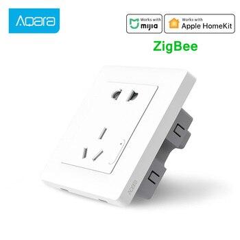 Xiaomi Aqara Smart Wall Socket Wireless Wall Outlet Wall Switch Smart Light Control Zigbee Socket Work For Mijia Mi home APP