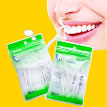 20 PCS/lot fil dentaire soins bucco-dentaires bâton de dents fil dentaire interdentaire nettoyant brosse ABS dentaire Flosser hygiène bâtons brosse à dents