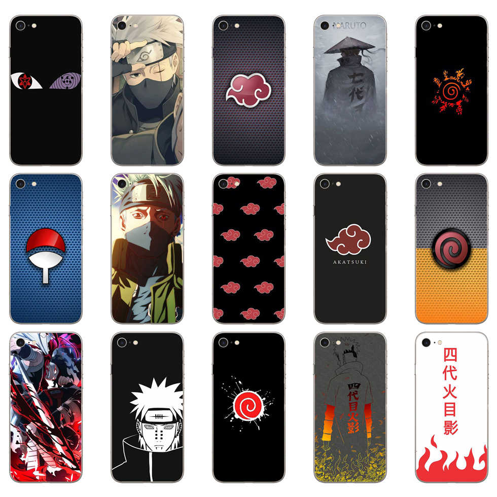 168DD Naruto Akatsuki Clan Cloud Symbool Soft Silicone Cover Case Voor Iphone 5 5S Se 6 6S 8 plus 7 7 Plus X Xs Sr Max Case