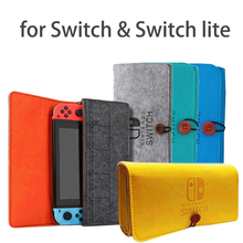 Game Console Felt Storage Bag for Nintendo Switch Protective Case Shock Proof Support Carrying Bag for Nintendo Switch & Lite