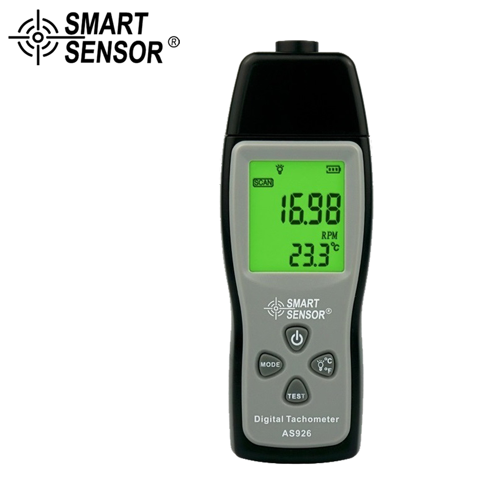 Digital Laser Photo Tachometer Non Contact Tach RPM Rotational Speed Meter Speedometer Photoelectric Tachometer Tester Motors