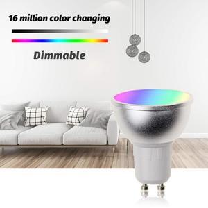 Image 5 - Boaz EC 6 قطعة GU10 الذكية واي فاي الأضواء LED لمبة 5 واط الملونة للتغيير Snart Wifi GU10 عكس الضوء لمبات اليكسا صدى جوجل المنزل IFTTT تويا الذكية ليلة الخفيفة