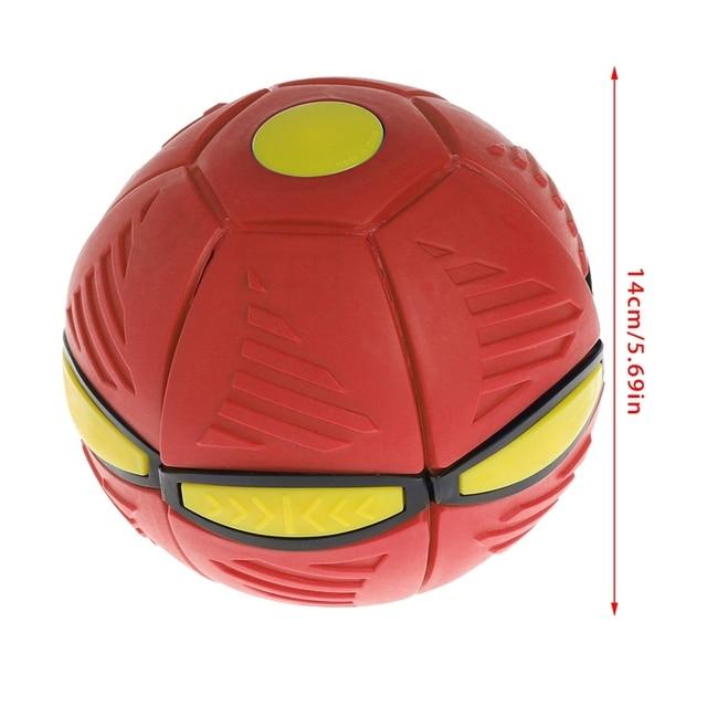 Летающий НЛО плоский бросать диск мяч с светодиодный светильник