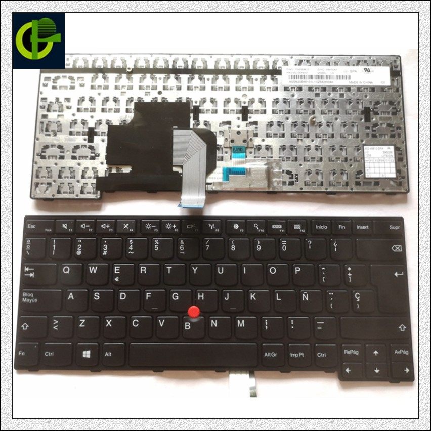 Spanish <font><b>Keyboard</b></font> for <font><b>Lenovo</b></font> IBM ThinkPad Edge E450 E450c E455 <font><b>E460</b></font> E465 W450 04X6191 04X6151 04X6111 04x6101 LATIN LA SP image