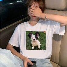 Женские милые футболки с собаками летние модные женские топы