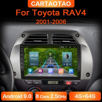 4G + 64G Android 9.0 Car DVD Player for Toyota RAV4 20012002-2006 Car Radio GPS Navigation WIFI RDS IPS Multimedia Player 2din