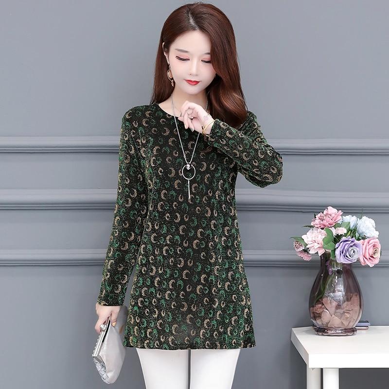 2020 New Women Shirt Floral O-neck Long-Sleeved Printedelegant 5XL Shirt Hot Autumn Spring Female Casual Blouse 8