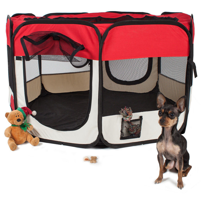 Pet <font><b>Dog</b></font> Portable Foldable Playpen Crate Room Puppy Exercise <font><b>Kennel</b></font> Cat Cage Water Resistant Outdoor Removable Mesh Shade <font><b>Cover</b></font> image