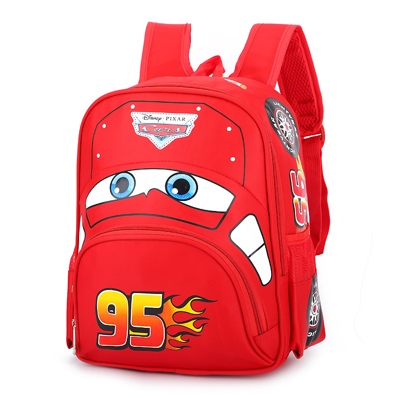 Boys Red Cars Cartoon Bag School Children Kindergarten Backpack Kids Travel Storage Plush Backpacks For Kids Gift