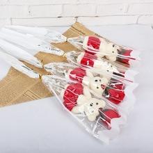 1 шт. романтическое искусственное мыло розы цветы букет один медведь для дома свадебный Декор DIY принадлежности подарок на день Святого Валентина