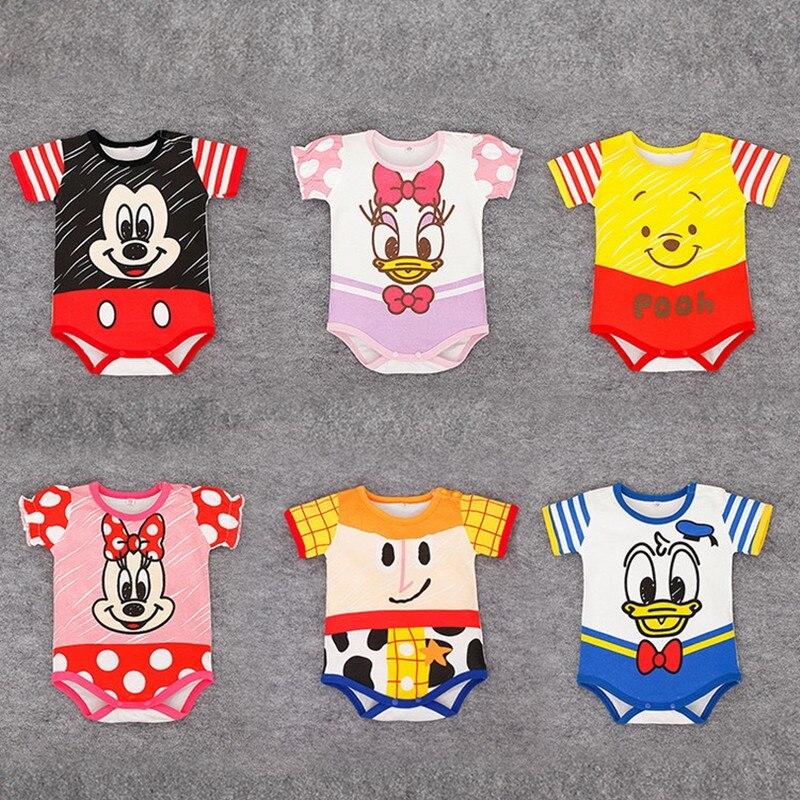 2020 Mickey Baby Boys Bodysuits Cartoon Newborn Short Sleeve Costumes Summer Cotton Infant Jumpsuits Toddler Girls Bodysuit