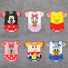 2020 Mickey Baby Boys Bodysuits Cartoon Newborn Short Sleeve Costumes Summer Cotton Infant Jumpsuits Toddler Girls Bodysuit