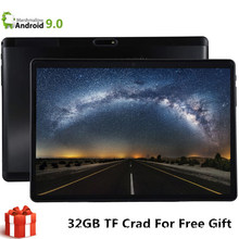 Android 9.0 Octa Inti Tablet Buah 64GB ( 32GB + 32GB Kartu) bluetooth Wifi Phablet 9 10.1 Inci Tablet Pc Dual SIM Kartu CE Band(China)