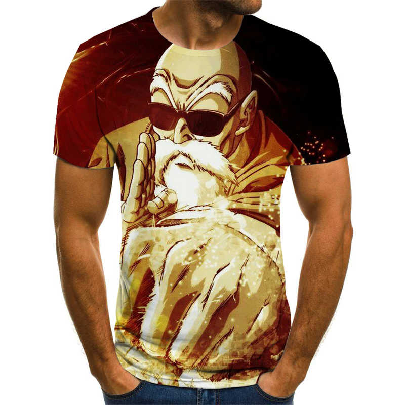 2020Newユーモアtシャツ男性と女性の人格アニメドラゴンボールz 3D印刷tシャツファッション半袖クリエイティブtシャツ