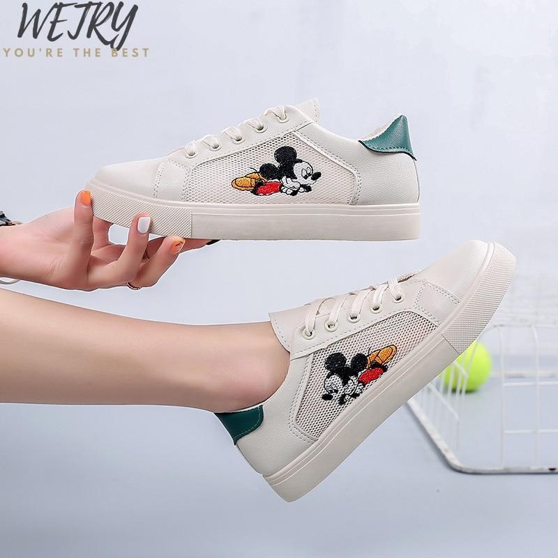 New Disney white Shoes women sports