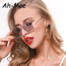 2020 Small Vintage Square Sunglasses Women Alloy Frame Luxury Brand