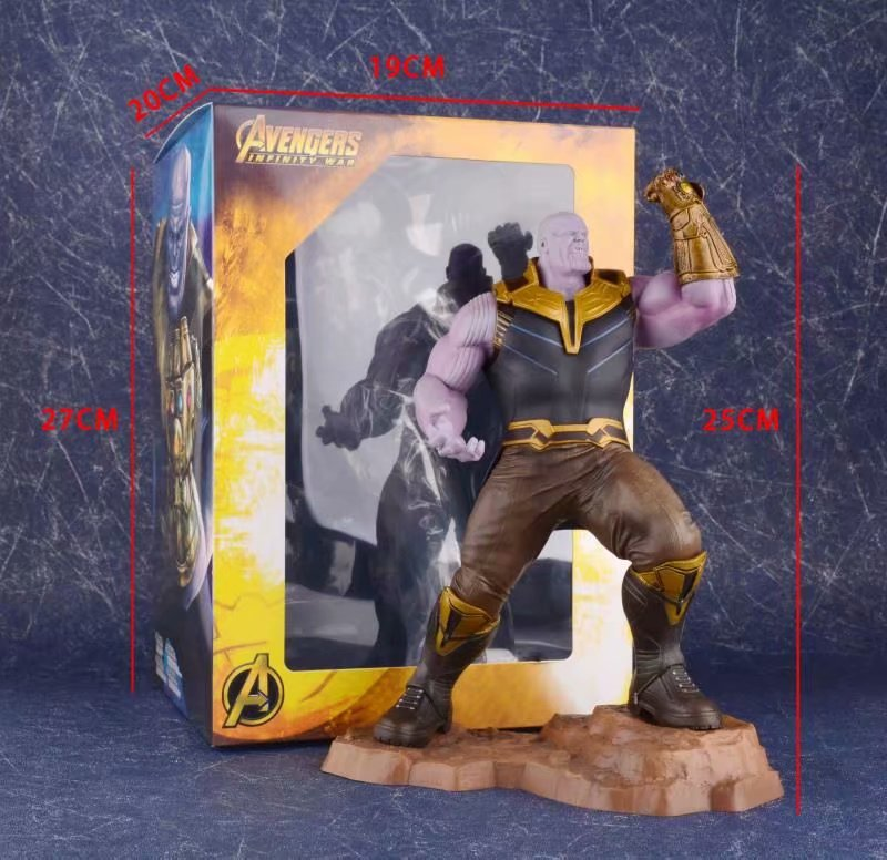25cm New movie Avengers Infinity War THANOS Action Figure PVC Statue Collection Toy Gifts
