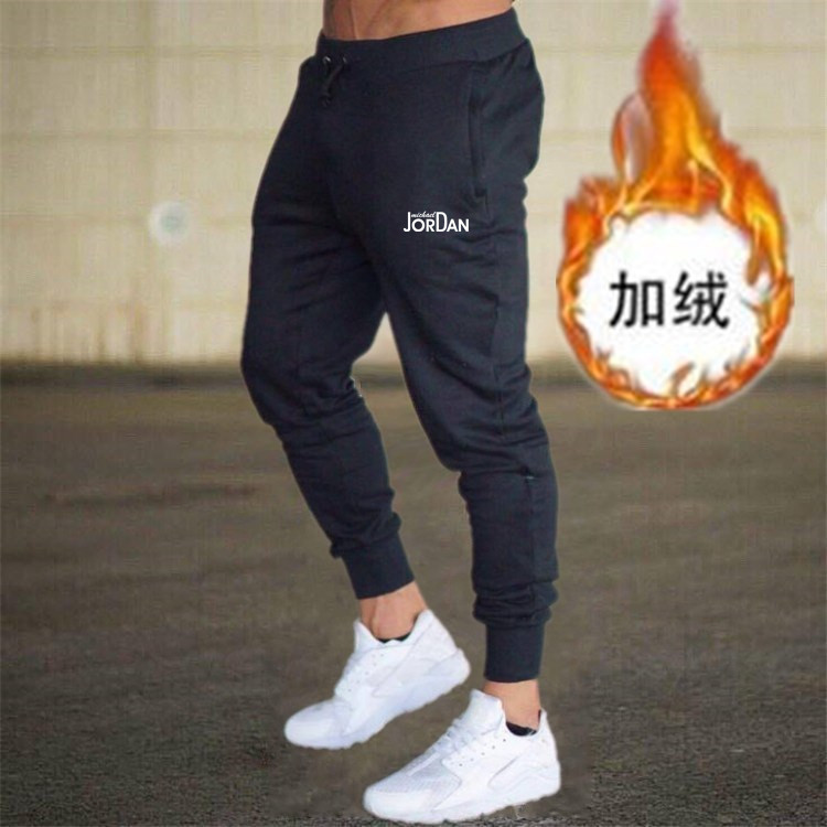 Athletic Pants Men's Autumn And Winter Brushed And Thick Europe And America Large Size Slim Fit Casual Men Skinny Pants