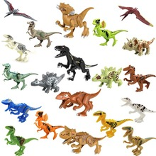Small particles assembled dinosaur building blocks puzzle DIY creative early teaching children's toys 511 pcs blocks the police command post fancy to hold small particles assembled building blocks toys