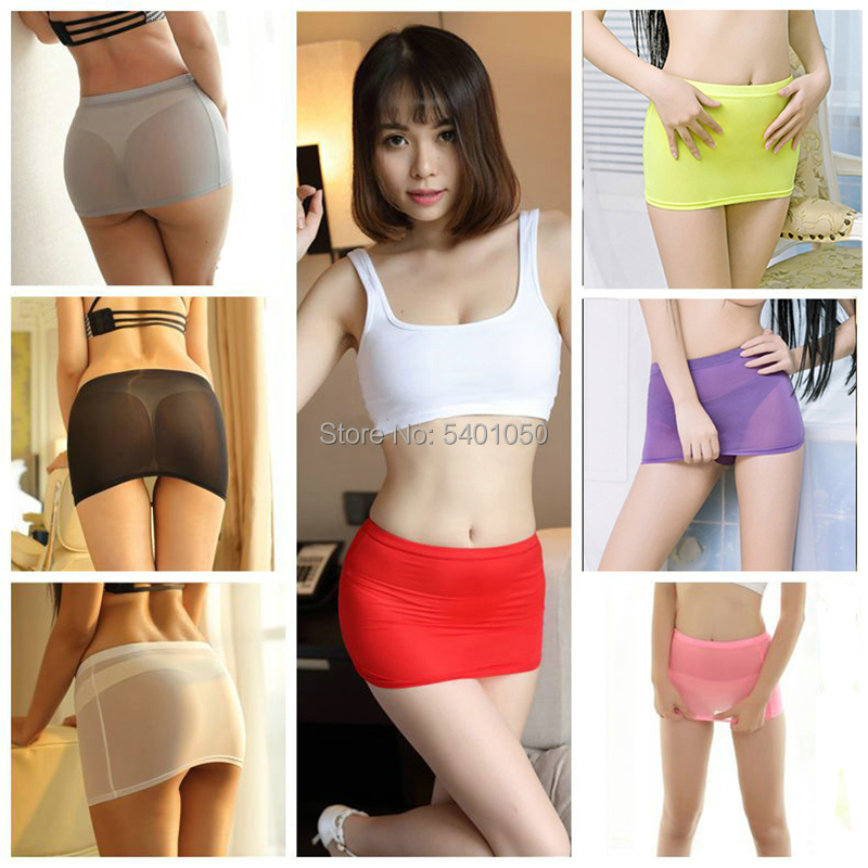 Women Sexy Night Club Pencil Skirts See Through Transparent Temptation Cute Short Mini Micro Skirt Tight Package Hip Skirt