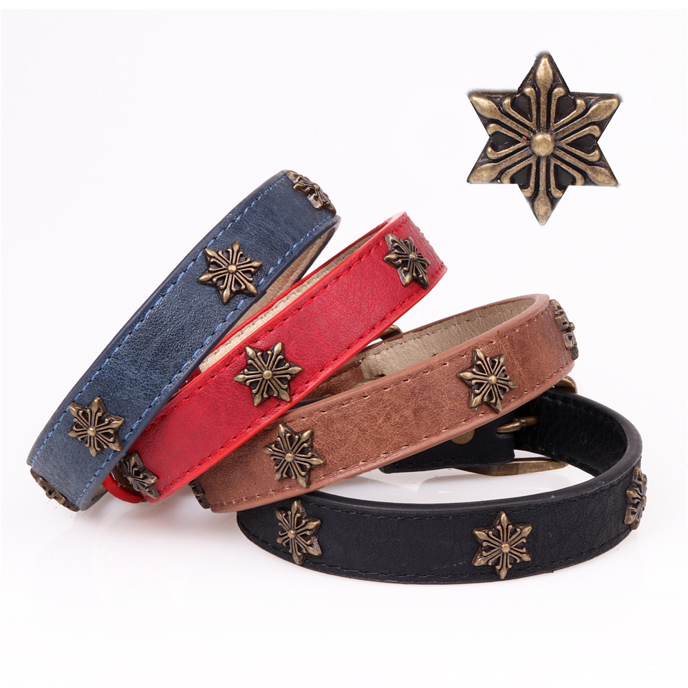 Amin Lattice 2018 New Style Medium Large Dog Pet Collar Dog Collar Star Dog Collar Manufacturers Direct Selling