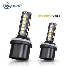 NLpearl 2x Car Fog Lamp H11 Led 3000K 3030SMD 6500K H27 881 880 H3 H4 H7 9005 HB3 9006 HB4 H9 H8 Light Bulb 12V