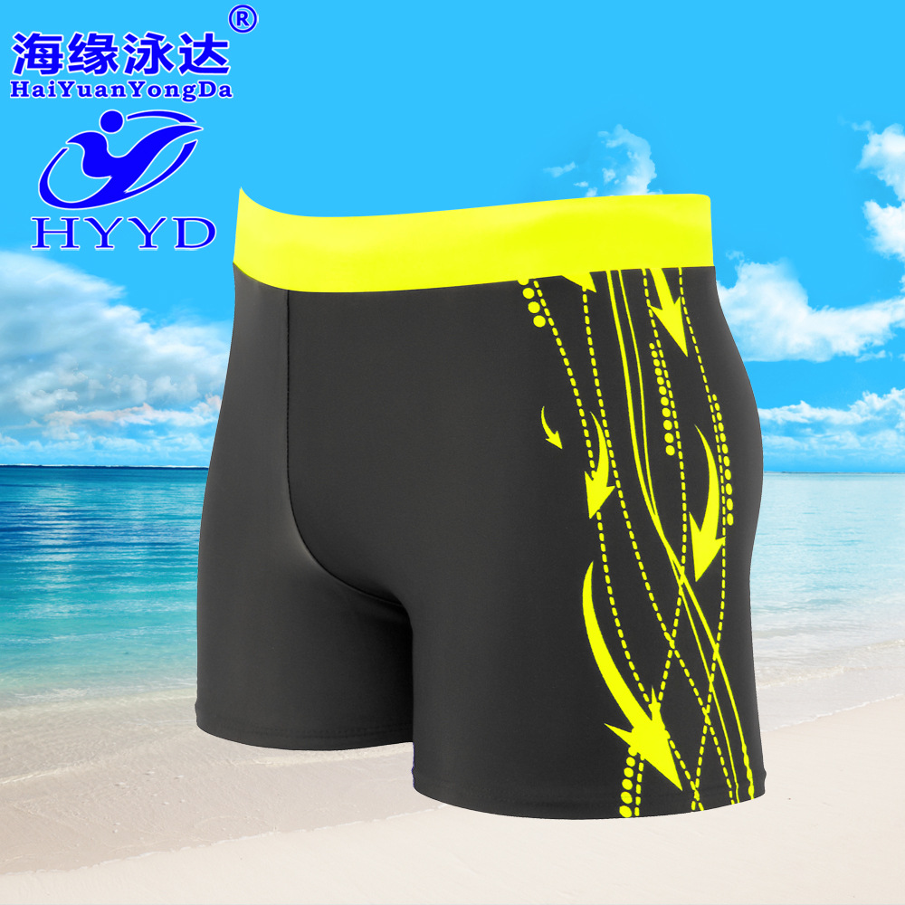 Swimming Trunks New Style Men Industry Swimming Trunks Fashion Loose And Plus-sized Quick-Dry Hot Springs Printed AussieBum