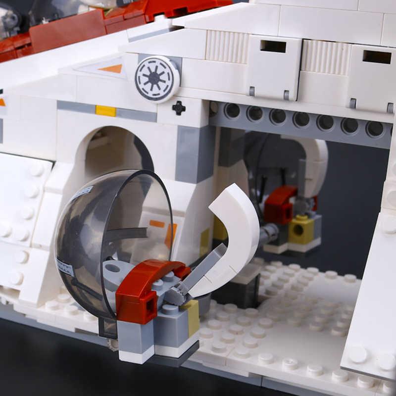KING 81043 (05041) блоки Star Wars Legoing Star Wars 75021 клон Республика военный корабль набор игрушек Obiwang Amidala со Звездными войнами