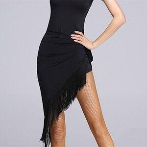 Женское платье с бахромой и кисточками, треугольное полотенце, латинское платье, пикантная юбка для танца живота, черная юбка для тренирово...