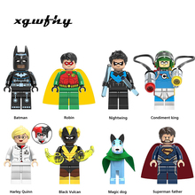 Single Sale Super Heroes Model Building Blocks Figure Bricks Toy kids gift Compatible Superman Hulk Batman Spider Ironman JM134