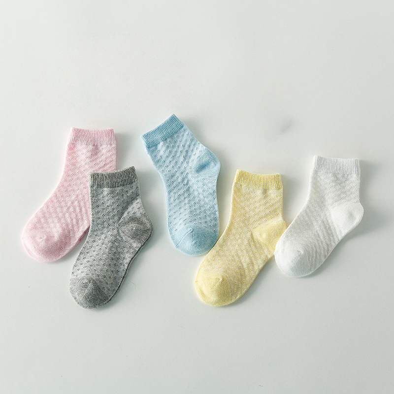 Baby Lotus 2019 New 5 Pairs/Lot Cotton Kids Socks Pure Breathable Toddler Boys Girls Socks Children Striped Socks