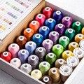 Полиэфирная Вышивальная нить Simthread для вышивальной машины Brother Singer Janome Babylock, 40 цветов, 550 ярдов