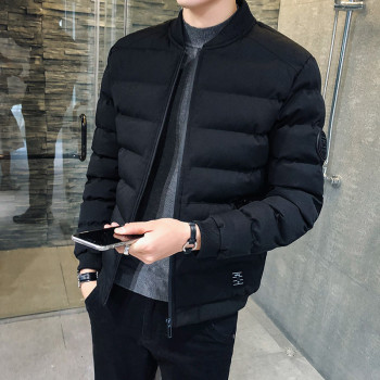 Brand Men Solid Color Cotton Padded Winter Jacket Coat Mens Warm Jackets Male Solid Color Stand Collar Zipper Thick Coats цена 2017