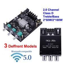 2*50W 2*100W TI TPA3116D2 dijital güç amplifikatörü kurulu Bluetooth uyumlu sınıf D HiFi Stereo ses ev sineması ekolayzır