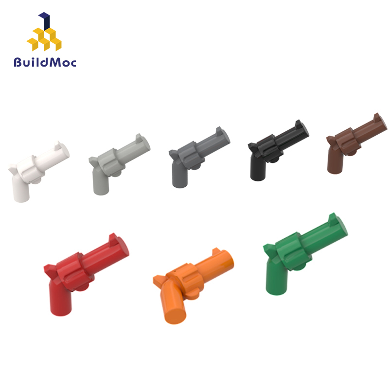 BuildMOC Compatible Assembles Particles 30132 Revolver Building Blocks Parts DIY LOGO Educational Creatives Gift Toys