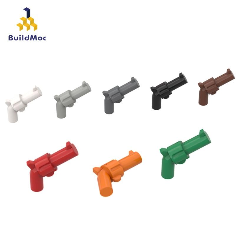 BuildMOC Compatible Assembles Particles 30132 Revolver Building Blocks Parts DIY LOGO Educational Creatives Gift Toys