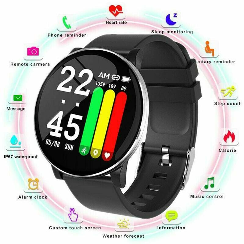 W8 Sports Smart Watch Fitness Tracker Weather Forecast Fitness Call Reminder Waterproof Bluetooth Smartwatch for Android Phone Pakistan