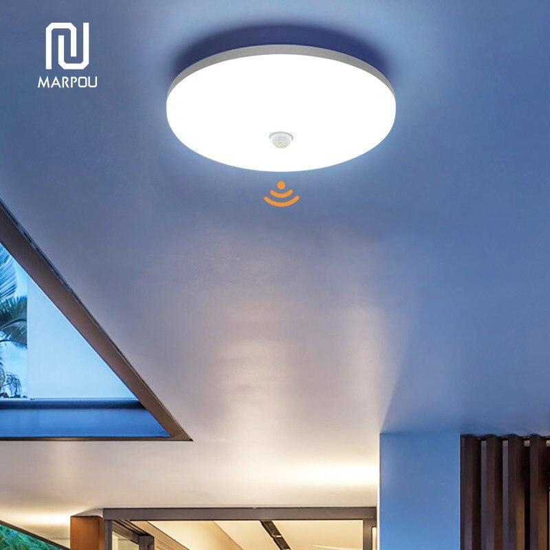 LED Ceiling Lamp PIR Motion Sensor 220V 110V 9W 13W 18W 24W 36W Warm White Cold White Mordern Ceiling Lights For Foyer Hallways 5
